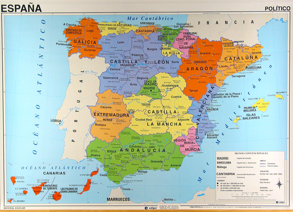 De territoriale indeling van de Spaanse Staat